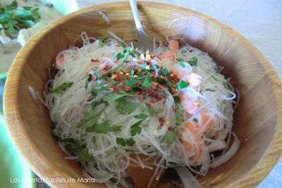 Receta de ensalada Yam Woon Sen