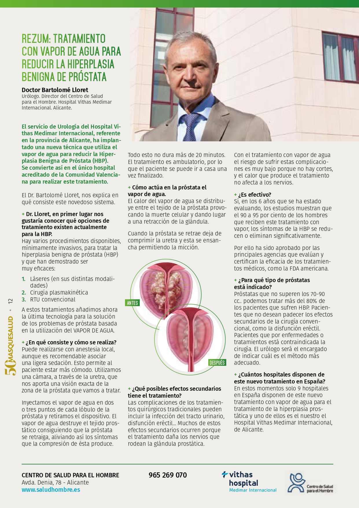 tratamiento de vapor de próstata