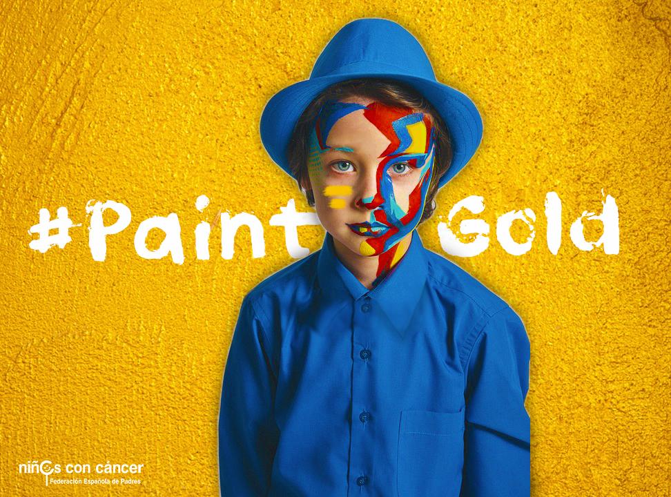 #PaintGold: iniciativa para apoyar a los niños con cáncer